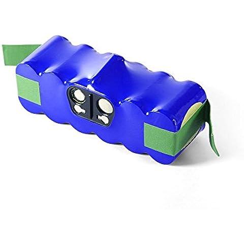 Bakth BAKTH-iR-4000-BLU - Batería para iRobot Roomba 68939 14.4 V, 4000 mAh, color azul + coasters estilo