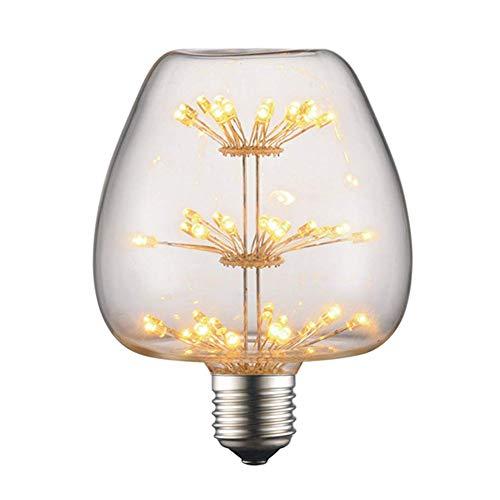 Retro LED Edison Glühbirne E27 3W Vintage Glühbirne Apfel (Gypsophila) LED Filament Birne Lampe Amber Glas (160 Lumens, 2300K) Ideal für Dekorative Beleuchtung mit Antike Nostalgie Stil, 10 Pack