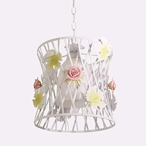 DGHDFH * Pendelleuchte Kronleuchter Restaurant Licht Wohnzimmer Schlafzimmer Korean Garden Iron Art Floral Licht Runde ohne Lichtquelle 55 * 19 cm ● -