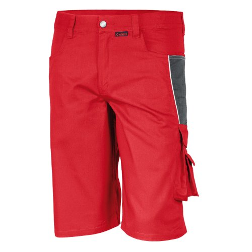 Qualitex - Shorts PRO MG 245 , ROT/GRAU , 42