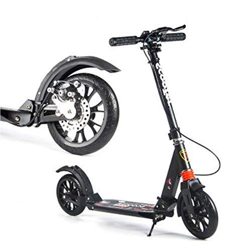 SCOOTERYW Faltendes Fahrrad des großen Raddämpfungsrollers, zum der Rollerscheibenbremse des erwachsenen Rollers Erwachsener/Jugend/Kinder zu arbeiten, sinnvolles Geschenk Handbremse und Scheibenb