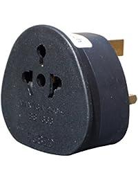 ShaniTech Travel Adaptor UK Visitor From USA/Australia / EU/China To UK Adapter (Pack: Qty 1 Black)
