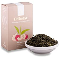 Dallmayr Aromatisierter Grüntee China Sencha Pfirsich, Grüner Tee, Japanischer Grüntee, Loser Tee, Fein Fruchtig, 100 g