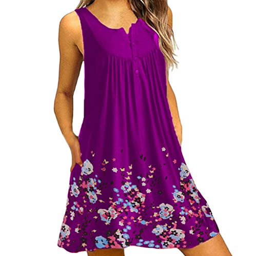 XuxMim Kleider Damen V-Ausschnitt Rückenfrei Neckholder Abendkleider Elegant Cocktailkleid Multi-Way Maxikleid Lang Chiffon Party Kleid(Lila-3,Small)