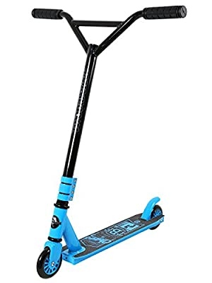 Stunt Scooter Street Pro Kick/Push 360 Spin Tricks Edition (Chaos Model Blue)