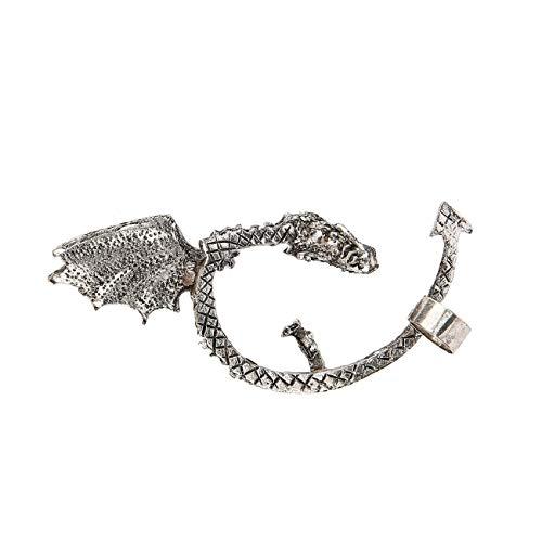 lry Vintage Bronze Punk Temptation Metal Dragon Bite Ear Cuff Clip Wrap Earring Drop Shipping Wholesale ()