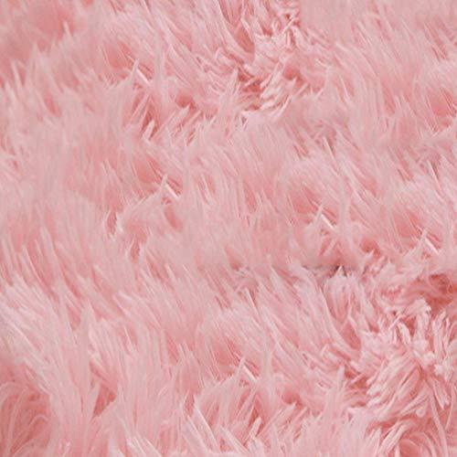 BAIBAI Teppich Kinder Schlafzimmer Teppich Wohnzimmer Teppich Sofa Europa Prinzessin Rechteck gemischter Teppich langes Haar grobe Shag Rug Rug,160x200cm,Rosa -