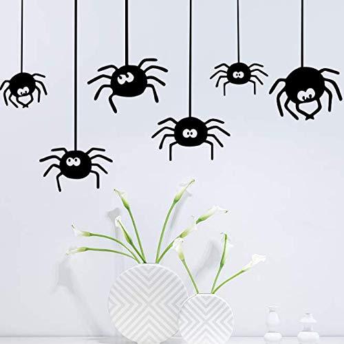 Halloween Spinne Wandaufkleber Party Dekorative Aufkleber Diy Wandkunst Dekoration Aufkleber Decor Oom Party Hochzeit Dekoration 85 CM * 54 CM (Diy Spinnen Halloween)