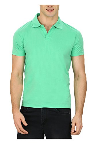 Pintapple Men's ComfortSoft Premium Cotton Polo Collar Half Sleeve T-Shirt with Solid...