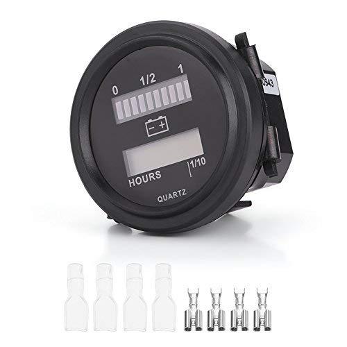 Keenso Batterieanzeige Meter Gauge 12V/24V/36V/48V/72V LED Digital Batterieanzeige Gauge mit LCD-Stundenzähler für Golfwagen