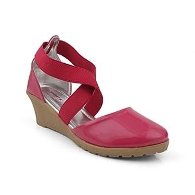 Kittens Girl's Fuchsia Fashion Sandals - 3 UK /India (34 EU)