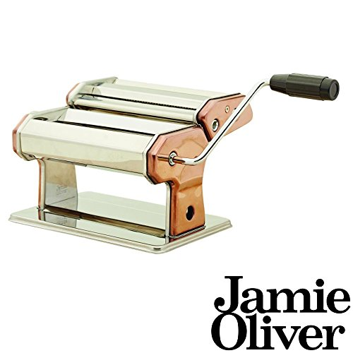 Jamie Oliver Edelstahl Nudelmaschine in Kupfer - zum Herstellen von Frischer Pasta - 24 x 15,5 x 19 cm -...