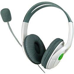 Accessotech Grand 2 écouteurs Casque Microphone pour Microsoft Xbox 360 Live Online Casque De Jeu