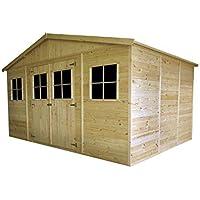 Generico - Caseta de madera 400 x 300 x 246 cm, madera de pino 19