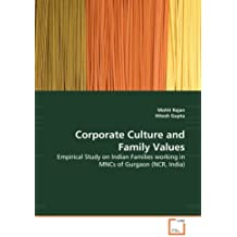 Corporate Culture and Family Values: Empirical Study on Indian Families working in MNCs of Gurgaon (NCR, India)
