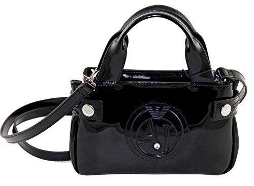 Armani Jeans Tasche Umhängetasche Clutch Bag 922528 schwarz (Denim Tasche Seitliche)