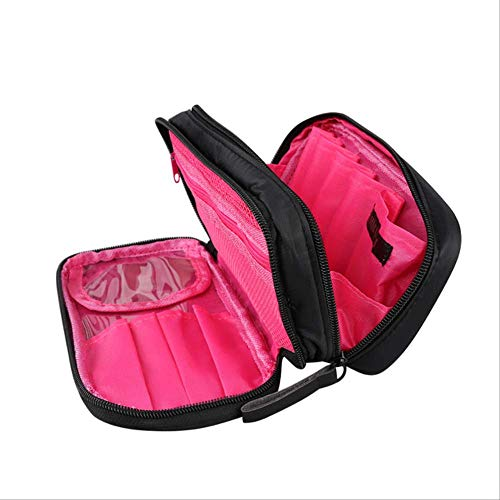 Pacchetto Wbdd Nylon Cloth Doppia Borsa Cosmetica Zipper Doppio Lato Travel Wash Sacchetto B