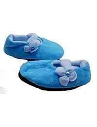 PICCOLI MONELLI Babbucce Bambini Invernali Antiscivolo Calde Invernali  Felpate in Pile Chiuse Dietro Basse Pantofole a Ballerina tg 6-8 15 cm… a1e43502089