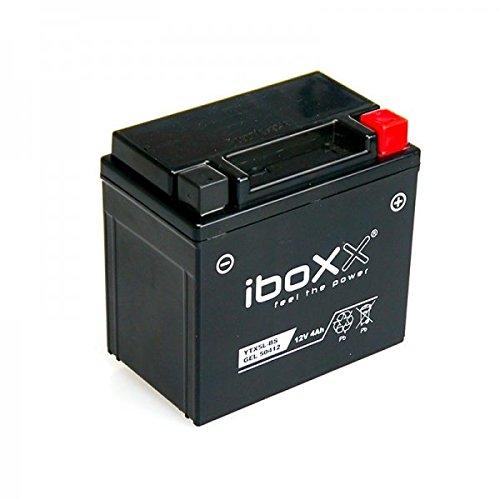Iboxx Motorrad Gel Batterie / Gelbatterie YTX5L-BS, 12 Volt, 4 Ah für Kymco Agility 50 R12 4T MMC, CK50QT-5, U60050, Bj. 2007-2011 5 Ah Sla-batterie