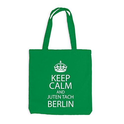 Sacchetto juta - Keep Calm And Juten Tach effusore - principale città Berlino Kellygrün