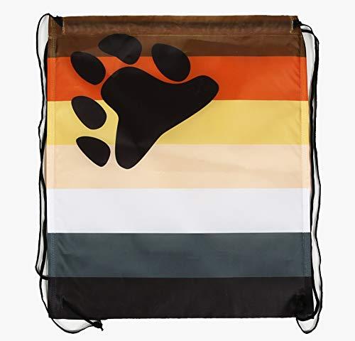 WABISABI DREAMS Mochila LGTB Orgullo Gay | Rainbow Pride Gay | Hermandad del Oso | Mochila con cordón