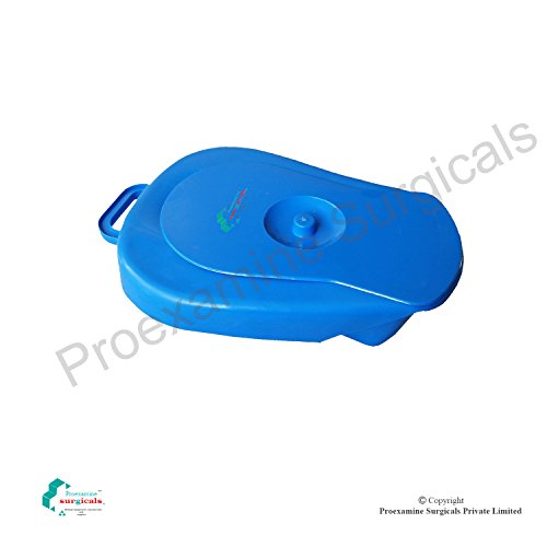 Proexamine Surgicals Bed Pan for adult with cover, Polypropylene, AUTOCLAVABLE, Blue color