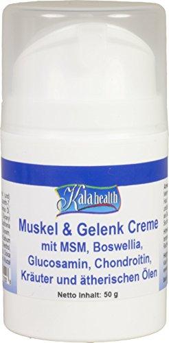 Kala Health Muskel & Gelenk Creme - MSM Creme - MSM Salbe mit Cetyl Myristoleat - Natürliche Topical Muskel & Gelenk Creme - Für Übungen oder altersbedingte Muskelschmerzen - Msm-creme