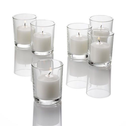 Eastland Quick Candles Votiv-Kerzenhalter, Transparent, 72Stück