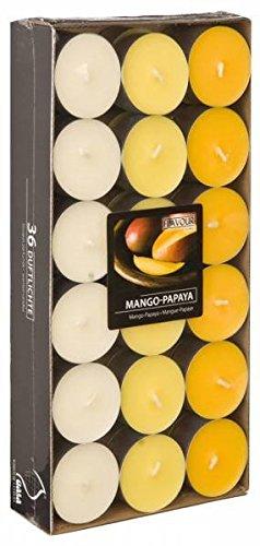 Mango-papaya-duft (Teelichter Duftkerze Kerze Duftteelicht mit Duft Farbig Teelicht 36 Duftteelicht Mango Papaya)