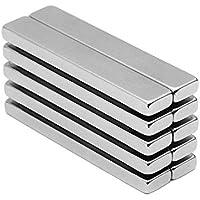 "Aitsite 10pcs Magnético Grado N42 Imanes de Neodimio de Barra de rectangular, 15 kg Fuerza imanes de Tierras Raras Para Multiusos 2.36 ""x 0.4"" x 0.2 "", 10 piezas"