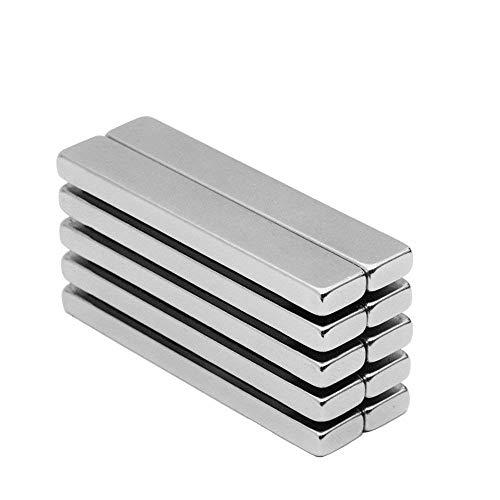 Aitsite 10pcs magneti magnetici al neodimio a barra magnetica n42, 33lbs magneti a terra rara per la forza di trazione per uso multiplo 2.36 '' x 0.4 '' x 0.2 ''