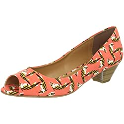 CL by Chinese Laundry Women s Home Run Peep-Toe Pump Coral 7 B(M) US