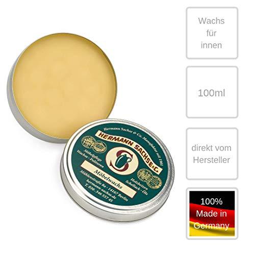 Möbelwachs farblos 100ml Antikwachs hergestellt aus Leinölfirnis Bienenwachs und Carnaubawachs für Möbel aus Holz Holztisch Eiche Holzwachs -