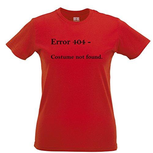 Error 404 Halloween Printed Slogan Zitat Design Premium-Qualität Frauen (404 Halloween Fehler Kostüm)
