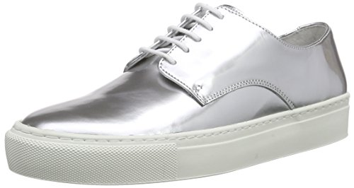 SELECTED FEMME Sfdorenna Sneaker, Baskets Basses femme Gris - Grau (Silver)