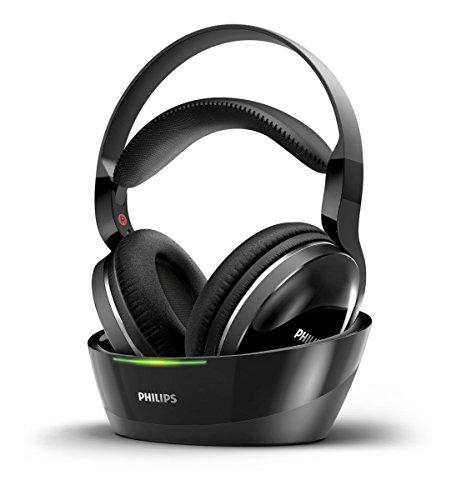 Philips SHD8800/12 Cuffie Radio Over Ear, Raggio di Azione Fino 15 Metri, Nero
