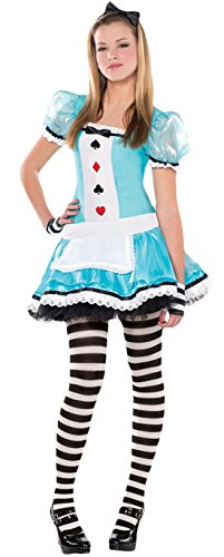 Zauberclown - Mädchen Karneval Kostüm Clever Alice, Hellblau, Größe 152-164, 12-14 (Für Clever Kostüme Halloween Frauen)