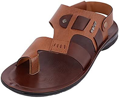 GOLITE Men's Brown Leather Outdoor Sandals 10 UK
