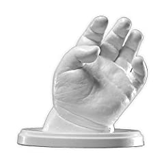 Idea Regalo - Lucky Hands® Kit per bambino impronte 3D | bambini fino a 6 mesi | senza accessori | Regalo di Natale (4-6 stampi)
