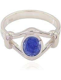 buenas piedras preciosas ovales facetados indiosAnillos de abeja - 925 azul plata Indiosaprecia buen anillo de
