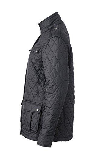 James & Nicholson Damen Jacke Steppjacke Ladies Diamond Quilted Jacket Black