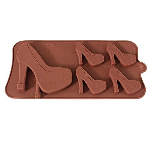 Molde silicona galletas 5 zapatos tacón alto silicona