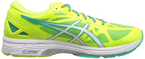 Asics Gel-DS Trainer 20 Synthétique Chaussure de Course Flash Yellow-White-Mint