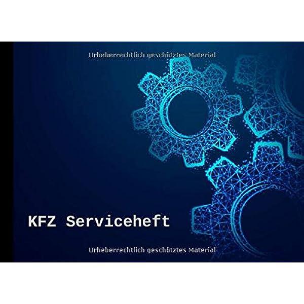 Kfz Serviceheft Scheckheft Universal Für Alle Pkw Marken Und Modelle Zahnräder Motiv Publishing Bewegt Bücher