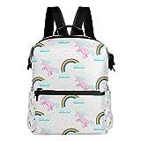 TIZORAX - Mochila Escolar con diseño de Unicornio arcoíris