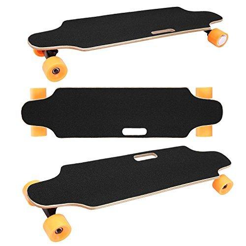 Beautytalk Elektrisches skateboard Elektro-Longboard 20-25 km/h Portable E-Board Mini-Skateboard mit Fernbedienung und Motor für Kinder & Jugendliche 250W (DE Lager) (Orange)