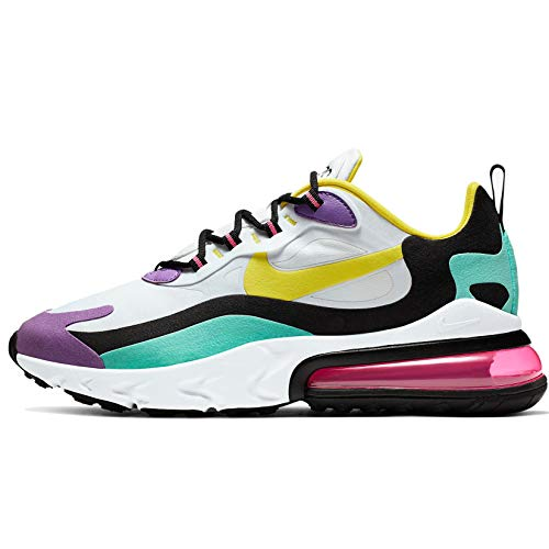 Sneaker Nike Nike Air MAX 270 React Geometric Abstract AO4971-101 White Dynamic Yellow Black Bright Violeta Mochila