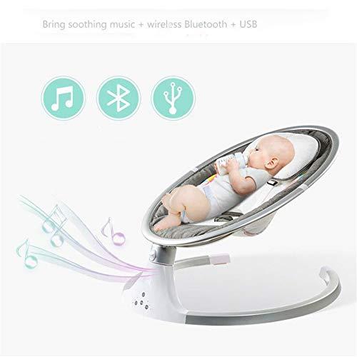 Imagen para Cuna Cuna Eléctrica Reclinable Comfort Recién Nacido Mecedora De Neón,Gris
