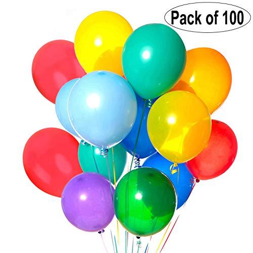 Luftballons, Coofit Latex Luftballons Hochzeit Rund Balloons für Party Zur Dekoration Geburtstagsfeier Dekoration 100 Stück