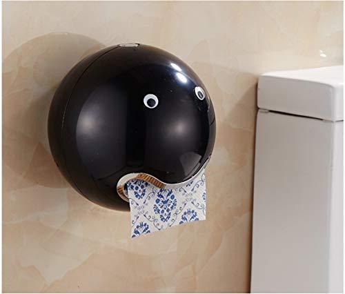 VIVIANE Toilettenpapierhalter Stehende Aufhängung, Freistehender Toilettenpapierhalter, Kugelförmiger Netter Emoji-Badezimmer-wasserdichter Toilettenpapier-Speicherbehälter (Color : E)